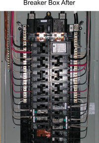 Breaker box after repairs